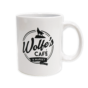Wolfe's Cafe & Market White Coffee Mug