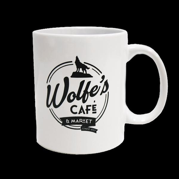 Wolfe's Cafe & Market White Coffee Mug